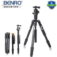 Wholesale DHL GOPRO BENRO A1282TB1 aluminum alloy tripod Single leg down the plane Professional tripod suit Alpenstock in