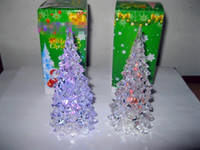 Wholesale Glows Christmas tree Crystal holy tree from the LED light source colour kept flashing after turn on the light Children are like