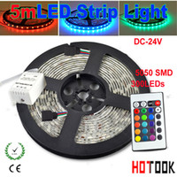 Wholesale LED Strip Light RGB LED M LED M SMD tiras ip65 waterproof Ribbon Flexible V key RGB Controller CE RoHS x