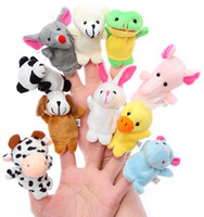 Cheap Cartoon double layer belt animal even a finger baby infant doll parent-child plush toy story telling