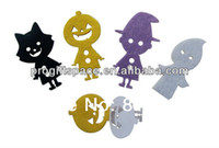 Wholesale New Handmade Craft Halloween Decorations Party Supplies Bar Stickers Felt Cat Ghost Pumpkin