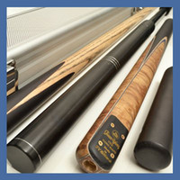 Wholesale OMG quot TOP BURL AND EBONY SNOOKER CUE WITH CASE TSS6
