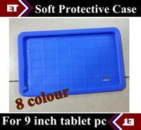 al por mayor goma de nuevo ipad-CHpost Suave de goma de silicona de nuevo caso de la cubierta para 9 pulgadas A13 A23 A33 android 4.2 4.4 T900 Tablet PC TB8