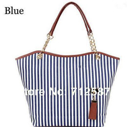 Wholesale-holiday sale bags Handbags fashion women Stripe Street Snap Candid Tote Canvas Shoulder Bag drop shipping #5361