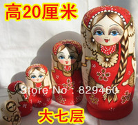 Wholesale russian dolls layer authentic seven story cm thick plaits beauty girl made boutique basswood Overseas process