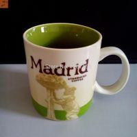 bear city - Novelty Ceramic Coffee Mug with Handgrip OZ Popular Coffee Cup with Bear Tree Design Starbucks City Mugs