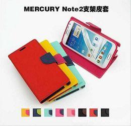 MERCURY TPU Inner Flip Cover Slot à carte colorée Wallet Stand Étui en cuir pour iPhone 4 4S 5 5S GALAXY S3 S4 S5 Note 2 3 4 Livraison gratuite à partir de mercure cas s4 fabricateur