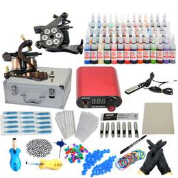 Wholesale PRO Complete Starter Tattoo kit machines guns inks power supply Beginner Set