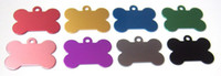 aluminium tags - color choose Personalized Dog Cat Pets ID Tags Bone Shape Double Side Aluminium Engrave FREE engraving on pet tag