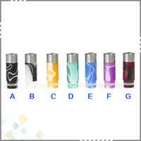 acrylic cylinders - New arrival Stainless Steel Acrylic Hybrid Column Drip Tip Stainless Steel Drip Tips Cylinder Mouthpiece for Electronic Cigarette DHL Fr