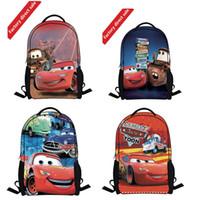 Cheap New Fashion Boy Men School Bakcpack Cartoon Car Backpacks High Quality Casual Backpack for Children Cheap Shopping Bag Free Shipping