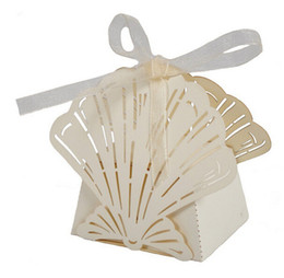 Wholesale 50 Pack White Sea Shells Seashell Wedding Birthday Party Favor Box Bomboniere