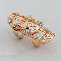 Wholesale Gold and silver hollow joint exaggerated ring Street shooting trend ornaments YL