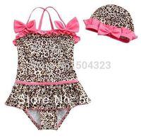Cheap Free shipping 5pcs lot Leopard color Girl's Swimwear shorts Kids Bikini Child Swimsuit Swimming Skirt Shorts Bathing Suits