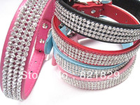 best leather pet collars - Fashionable Pet Product Best seller Pet Collar High quality Dog Collars and Leads With Dazzling Rhinestone Puppy Product