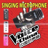 Wholesale Karaoke Singing Palm KTV Microphone Handheld Portable Mini karaoke player Pocket Mini KTV Karaoke Microphone for Cellphone MP3 MP4 PC
