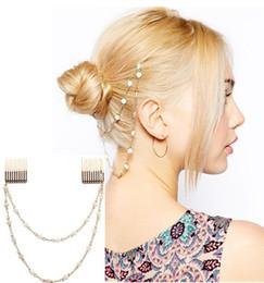 Descuento las cabezas de flor clips 12pcs / lot doble cadena accesorios esmalte Cabeza de flor peine del pelo de la joyería europea del estilo de pelo plateado oro