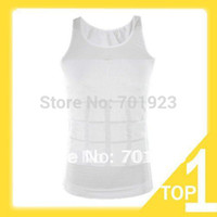 Cheap Holiday Sale New 1pc Black Color Men's Vest Tank Top Slimming Shirt Corset Body Shaper Fatty Y3238