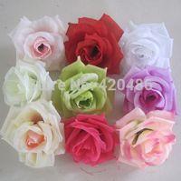 silk rose heads - High Quality CM Artificial Silk Rose Head Flower for Wedding Christmas Party DIY Decoration