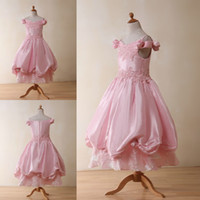 Cheap Excellent Quality Ball Gowns Real Sample Flower Girls Dresses Appliques Beaded Custom Made China Lovely Children Wedding Dress For Girls