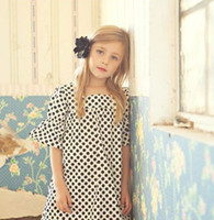 cotton clothing for children - For Big Girls Polk Dot Europe Style Girls Dresses Puff Sleeve Cotton Sundress Princess Girl Dressy Child Children s Outwear Clothing J1489