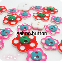 Cheap Button buttons red pink child baby sweater shirt overcoat decoration buckle