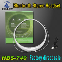 Cheap HBS 740 Sports Neckband Stereo Bluetooth Wireless Headset Earphone Headphone for iPhone 5 iPhone 5C iPhone 6