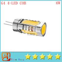 led g4 lamp stand cob bulb 6w 12v dc reading crystal lightin...