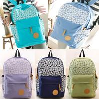 Wholesale Fashion Women Girl Casual Canvas Shoulder Backpack School BAG Satchel Bookbag Men COTTON Backpacks Travel Hiking Bags CA05071