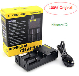 Wholesale 100 Original Nitecore intellicharger I2 battery chargers for E Cigarette charger nitecore and I4 D2 D4