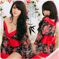 Wholesale 8017 HOT NEW Sexy Fancy Dress transaprent costume Japanese Kimono fancy cosplay Geisha dress