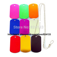 aluminum dog tags with chain - hot sale military dog tags with chains dog tags for men jewelry aluminum dog id tags dhl fedex