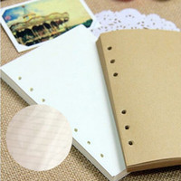 Wholesale Vintage Leather Notebook Loose leaf Refill Kraft Paper White Lined Yellow for Spiral Journal Sketch Book