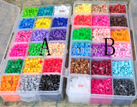 Wholesale New Perler Beads mm colors with Storage Box DIY gift hama beads craft kids toys set