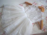 Cheap Graceful Pleats Lace Flower Girls' Dresses A-Line Sheer Jewel Neckline Ankle Length Real Image Little Girl Pageant Dress