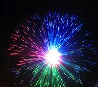 fiber optic lighting - Starry Night Light Colorful Flower Fiber Lamp LED Fiber Optic Light Night Lamp Fiber Colorful Holiday DIY Ceiling Light Party Christmas Gift