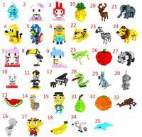 Wholesale WEAGLE Creative Mini Small particles fruits animals piano closestool zombie blocks toys dimond brick sets H