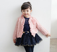 Cheap Wholesale-new 2014 hot spring autumn children clothes set(coat+Skirt+t-shirt)Fashion casual set kid set 5pieces lot size90-130 one color