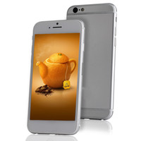 Wholesale Aluminum version i6 quot inch MTK6572 Dual Core Android OS Goophone IPS Screen GPS Camera G WCDMA IOS Unlocked Smart Phone