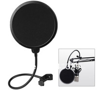 Wholesale 360 Flexible Microphone Mic Pop Screen Filter Mask Shield Studio Wind Windscreen For Broadcasting Recording Singing