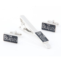 beatles box - The Beatles Cufflinks and Tie Clasp Set w Gift Box Men s Gift Father Day Gift