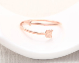 Wholesale 10pcs Arrow Wrap Ring Rose Gold arrow rings unique rings adjustable rings knuckle ring stretch rings cool rings cute ring JZ008