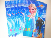 Wholesale Hot sale big Frozen Cartoon Kids Coloring Book with Stickers Drawing book Children Gift piece fast shipping