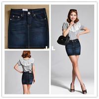 Wholesale autumn skirtHotsale S XXXL spring summer skirt women plus size package hip skirt denim skirt fashion mini jeans skirt