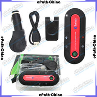 Wholesale Wireless Bluetooth Hands free Car Speakerphone Kit With Car Charger With Retail Box