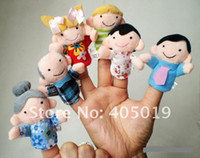 Cheap Finger Plush Puppet Dear Family Story Telling Aiding Tools Support Children Baby Educational Toys 1Week Delivery Free Shipping