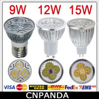 Spotlight Power LED 9W High Power Led Spotlight Bulb CREE 9W 12W 15W Dimmable GU10 MR16 E27 E14 B22 GU5.3 Led Downlight Lights With CE RoHS