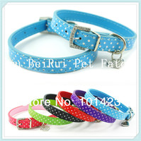 berry puppy - Berry Colors Sizes Pu Leather Polka Dog Pet Cat Collar for Puppy