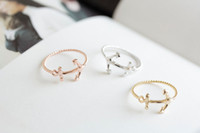anchor rings - MIN pc cute anchor rings jewelry jewelry rings anniversary ring couple rings unique rings Funky rings cute rings JZ010