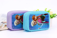 Wholesale Fashion Cartoon Frozen Pencil Bags Frozen Pencil Case Stationery bags Frozen Cartoon Princess Elsa and Anna Bags School Bags